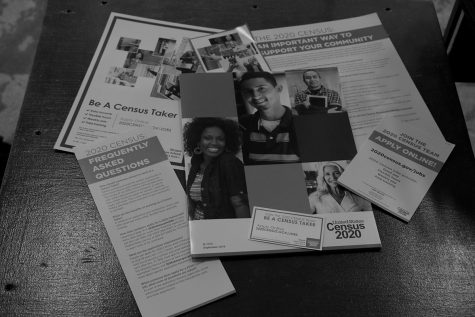 Brochures containing information on how to apply for a census job.