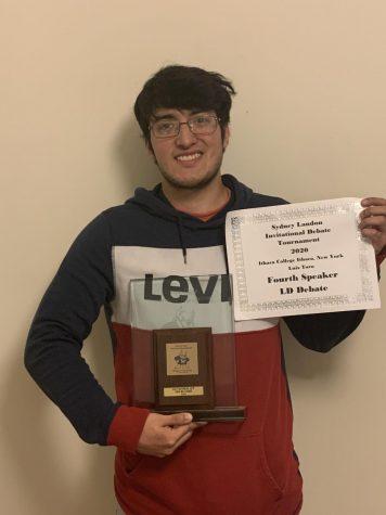 Debate student promotes quarter-final experience